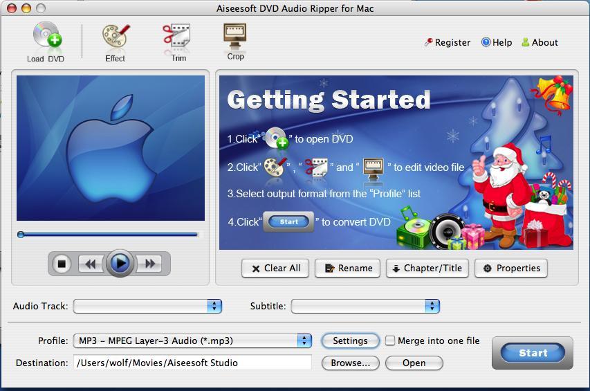 DVD to MP3 for Mac, best Mac DVD MP3 Audio Ripper, DVD to MP3